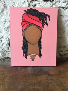 (original) Black Girl Natural Hair Artwork Painting by Addie Rawr – Addie Rawr Illustrator + Designer – Join in the world of pin Afro Painting, Black Art Painting, Black Artwork, Painting Of Girl, Black Love Art, Black Girl Art, Black Girls, Arte Hippy, Pintura Hippie
