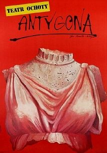 Antigone - Jean Anouilh, Polish Theater Poster