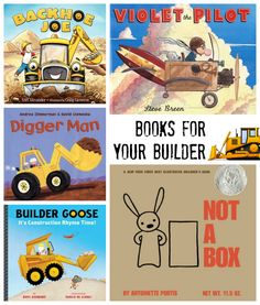 Books for Your Builder - Construction and Building Books // One Lovely Life Preschool Books, Preschool Themes, Activities For Kids, Summer Camp Themes, Construction For Kids, Build A Better World, Summer Reading Program, Building For Kids, World Of Books