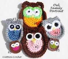 Owl Family Portrait Free Crochet Patterns