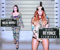 Beyonce & Nicki Minaj On The Run Tour 2014 September Paris, France Art