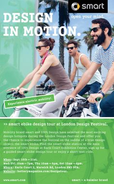 smart ebike design tour at london design festival 2013