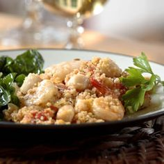 Seafood Couscous Paella Recipe - http://recipes.millionhearts.hhs.gov/recipes/seafood-couscous-paella