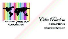 Com In Box | Com In Box - Conseil et stratégies en marketing, communication et webmarketing. Carte de visite réalisée pour Célia porcheto