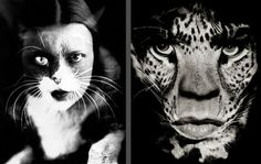 Left: experimental Italian photographer Wanda Wulz (autorretrato, 1932), right: Albert Watson (Mick Jagger, 1992)