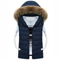 COOFANDY Men's Winter Warm Casual Detachable Hooded Zip Up Vest Waistcoat Tops $23.46