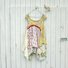 lagenlook dress / upcycled dress / romantic Upcycled clothing / altered dress / by CreoleSha, $107.00