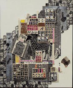 Man O'War _Ray Johnson collage on cardboard