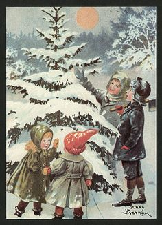 Vintage Christmas - Jenny Nyström Holiday Images, Vintage Christmas Images, Victorian Christmas, Christmas Pictures, Santa Paintings, Christmas Past, Xmas, Old Fashioned Christmas, Christmas Illustration