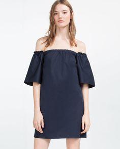 OFF-THE-SHOULDER DRESS-DRESSES-TRF | ZARA United States