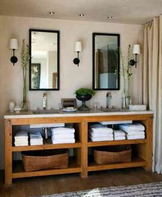 43 Stunning Rustic Modern Bathroom Design Ideas Ideas 89 Refresheddesigns Seven Stunning Modern Rustic Bathrooms 8 Diy Bathroom Vanity, Rustic Bathroom Vanities, Modern Bathroom, Bathroom Ideas, Master Bathroom, Vanity Sink, Bathroom Cabinets, Bathroom Designs, Diy Vanity