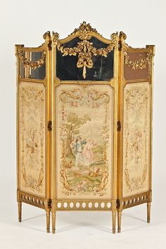 Francois J. Louis Xvi, Victorian Furniture, Antique Furniture, Plywood Furniture, Rococo, Baroque, Folding Screen Room Divider, Room Dividers, Folding Screens