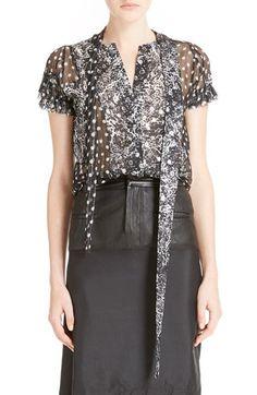 HAIDER ACKERMANN Dot Print Silk Blend Blouse. #haiderackermann #cloth #