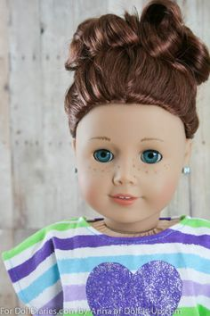 Do this cute up-do for your American Gill Doll Hairy - so pretty any way you look at it.