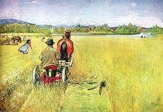 Sommer, huile de Carl Larsson (1853-1919, Sweden)