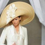 Carolina Herrera Spring 2013 Ridiculous - yet awesome - hat.