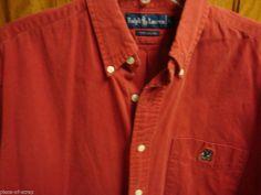 RALPH LAUREN POLO Mens Shirt LARGE L Vintage VTG Teddy Bear Button Front L/S #ralphlauren #vintage #polo #ebay