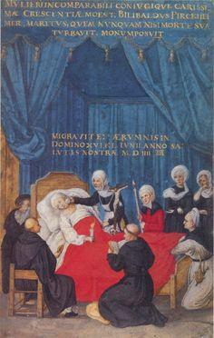 1504 The death of Crescentia Pirckheim. Albrecht Durer.