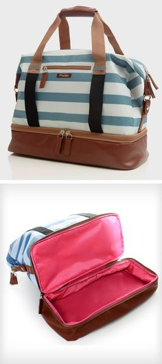 Weekender bag with shoe compartment #product_design  And why is it not available? It's a good price and cute.