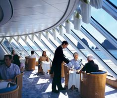 Crystal Cruises — Crystal Serenity  The Experience: Extravagant penthouse suites (the largest being 1,345 square feet) with butlers who help you unpack and a fancy James Bond–worthy casino are just a few examples of over-the-top luxury on this grande dame liner.