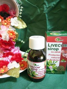 LIVECOM Sirop - Protector natural al ficatului (SUPLIMENT ALIMENTAR NATURAL AYURVEDIC, DIN PLANTE MEDICINALE INDIENE)
