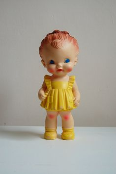 Ruth E. Newton rubber squeak toy doll made by the Sun rubber Company.