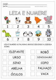 Kindergarten Math Worksheets, Preschool Math, I School, Sunday School, Portuguese Lessons, John Kennedy Jr, Home Schooling, Diy For Kids, Homeschool