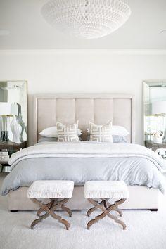 Living with Landyn Bedroom One Bedroom, Bedroom Sets, Home Decor Bedroom, Modern Bedroom, Bedrooms, Bedroom Inspo, Hamptons Bedroom, Beige Headboard, Living With Landyn