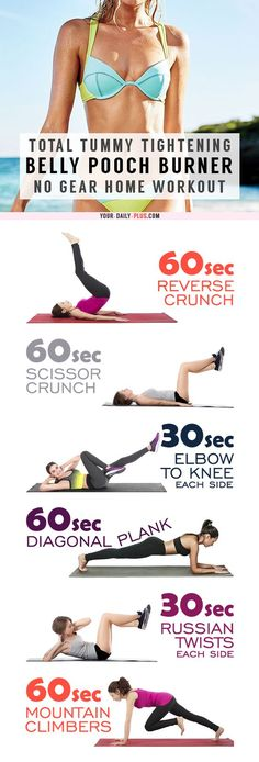Looking to burn some of that tummy pooch that you gained over the holidays? We've put together 6 secret exercises and bonus detox tips that will burn those extra pounds off your tummy quick and easy! The heat is on to tighten up your tummy for the pool or beach. If you want your belly … #fatloss #fitness #healthylifestyle