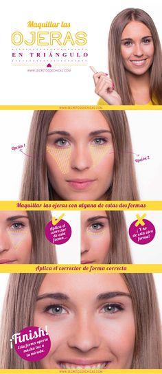 Maquillar las ojeras correctamente.