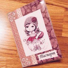 Обложка на паспорт #скрапбукинг