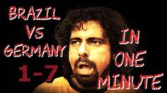 Germany 7 - Brazil 1 in one minute!  #worldcup2014 #parody #timelapse #ger-bra #bra-ger #soccer #football #disaster #humilation #brasil #brazil #germany #deutschland #uberalles #shame #7-1