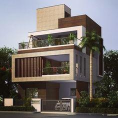 Apartment design exterior beautiful 57 ideas for 2019 apartment is part of House design - 3 Storey House Design, Bungalow House Design, House Front Design, Modern Bungalow Exterior, Modern Exterior House Designs, Exterior Design, Exterior Signage, Exterior Cladding, Architecture Unique
