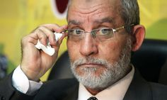 """EGYPT: MUSLIM BROTHERHOOD: Mohammed Badie. The Supreme Guide of the Muslim Brotherhood. Head of the Egyptian branch of the international Muslim Brotherhood org since 2010.  In Jul 2013, Egyptian pres Mohammed Morsi, member of the Muslim Brotherhood, was removed by a coup d'état after protests in Jun. Badie's arrest was ordered on 10 Jul 2013 for """"inciting the violence in Cairo in which more than 50 people were killed."""" He was arrested on 20 Aug 2013. Succeeded by Mahmoud Ezzat on a temp…"""