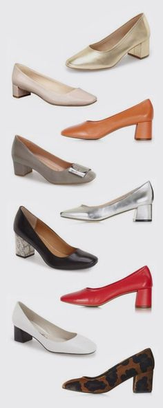 Block-heeled ballerina pumps can be thought of as dowdy and conservative, yet they're having their trendy moment and I love that. Ballerina Pumps, Ballet Shoes, Low Heels, Pumps Heels, Cute Shoes, Me Too Shoes, Shoe Collection, Designer Shoes, Fashion Shoes