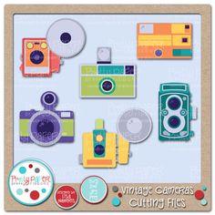 Vintage Cameras Cutting Files
