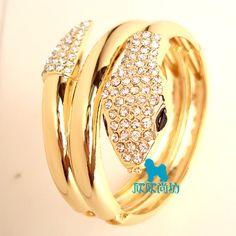 Fashion 18K yellow gold GP bracelet gift chain snake jewelry sl31