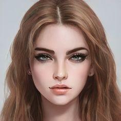 Digital Art Girl, Digital Portrait, Portrait Art, Female Character Inspiration, Fantasy Inspiration, Character Aesthetic, Aesthetic Girl, Character Portraits, Character Art