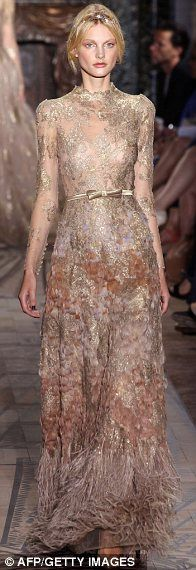 """Oh no! I fell in a mud puddle in this beautiful Valentino dress!""  Consider this one pre-mocked."