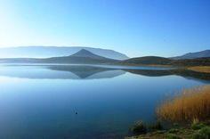 Lac Tilsit au nord d'Imilchil dans le Haut Atlas Oriental au Maroc