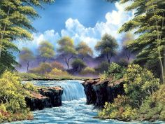 paintings | ... | Bob Ross Paintings Desktop Background in High Quality Resolutions