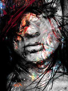 """Saatchi Art Artist: yossi kotler; Acrylic 2013 Painting """"layers peeling"""""""