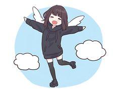 Cute Anime Chibi, Cute Anime Pics, Anime Neko, Kawaii Anime Girl, Anime Art Girl, Manga Anime, Chat Kawaii, Kawaii Chan, Kawaii Drawings