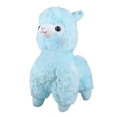 TOLLION Cuddly Soft Blue Alpaca Llama Lamb Toy 18 Stuffed Animal Cushion Plush Doll Valentine Gift New Baby Gift Graduate Gift Lovers Anniversary Fiesta Gift for Girlfriend Children and Friends -- Check this awesome product by going to the link at the image.