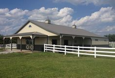 2014 Building of the Year Award Horse Barn Category Heartland Chapter of the NFBA Pole Buildings, Storage Buildings, Diy Pole Barn, Post Frame Building, Horse Arena, Dream Barn, Barn Plans, Built In Storage, Show Horses