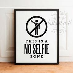 Funny bathroom wall art PRINTABLEno selfie by TheCrownPrints