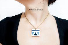 Ceramic Jewelry by Viruset Studio, €20.00 Geometric collection // Fall 2013  http://virusetdesign.blogspot.com http://noemarin.etsy.com