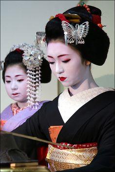 T E A: Kikutsuru and Harue | Kikutsuru preparing tea during … | Flickr - Photo Sharing!