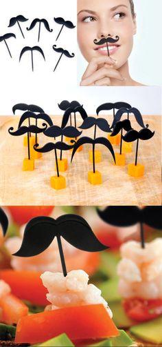 Mustache party picks