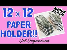 (10) THE BEST DIY 12X12 Paper Holder...no kidding!! ORGANIZE YOUR 12X12 PAPERS/DIY CRAFT ROOM STORAGE - YouTube Scrapbook Paper Storage, 12x12 Scrapbook Paper, Scrapbooking, Craft Room Storage, Kids Storage, Storage Boxes, Storage Ideas, Craft Organisation, Room Organization